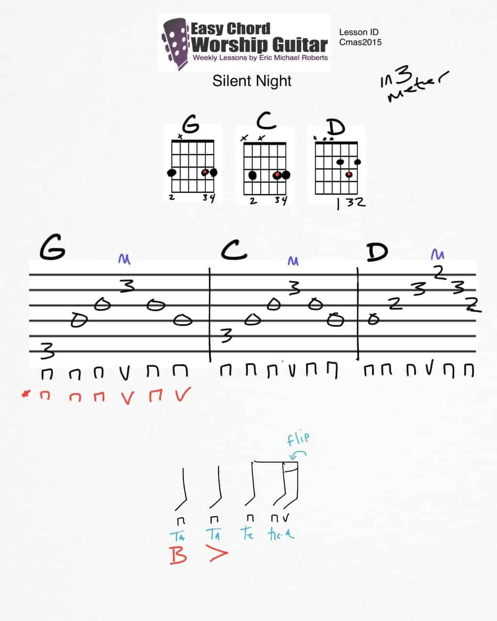 Silent Night Sheet Music With Guitar Chords