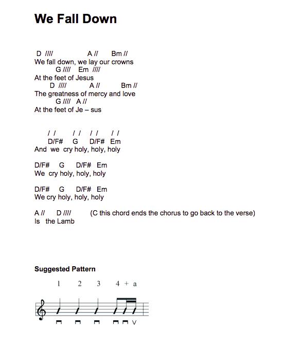 wefalldown-chords