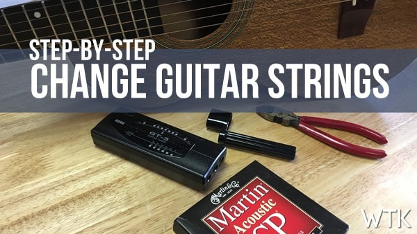 Step by Step How To Change Acoustic Guitar Strings